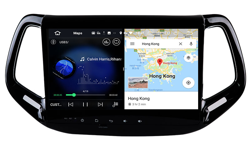 slpit screen on android Jeep Compass 2016-2018