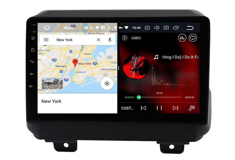 slpit screen on android Jeep Wrangler 2018-2021