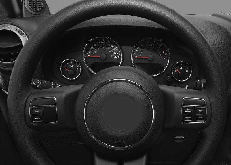 Jeep Wrangler 2010-2017 dashboard