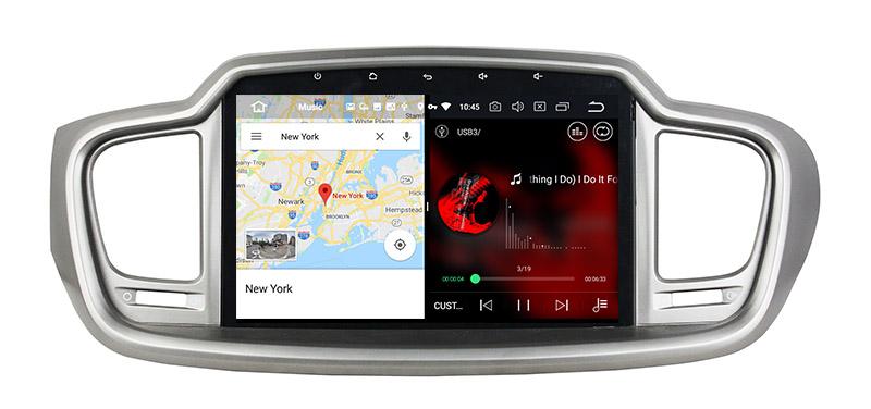 slpit screen on android Kia Sorento 3 2014-2017