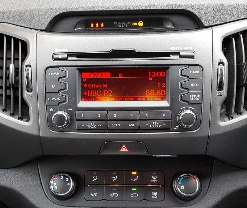 Kia Sportage 2010-2015 factory radio