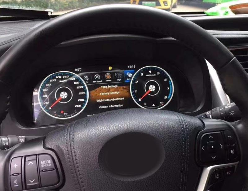 digital dash display Toyota Highlander 2015-2019