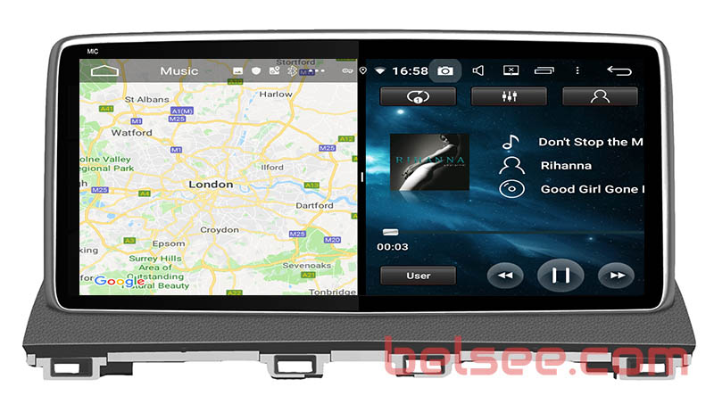 slpit screen on android Mazda 3 2013 2014 2015 2016 2017 2018