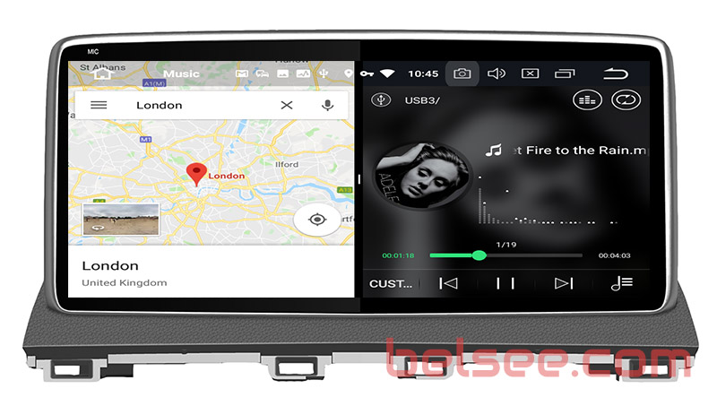 slpit screen on android 8.0 Mazda 3 2013 2014 2015 2016 2017