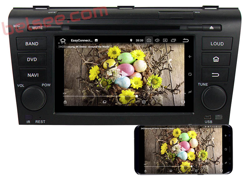 mazda 3 dvd player android mirror link