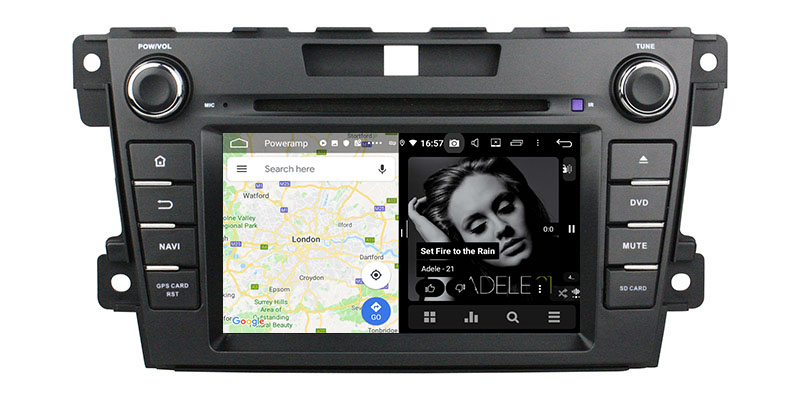 slpit screen on androidMazda CX-7 2008-2015