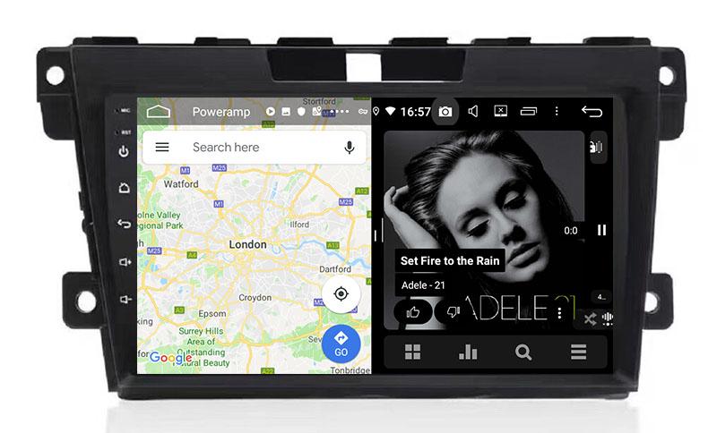 slpit screen on android Mazda CX7 CX 7 CX-7 2007-2015