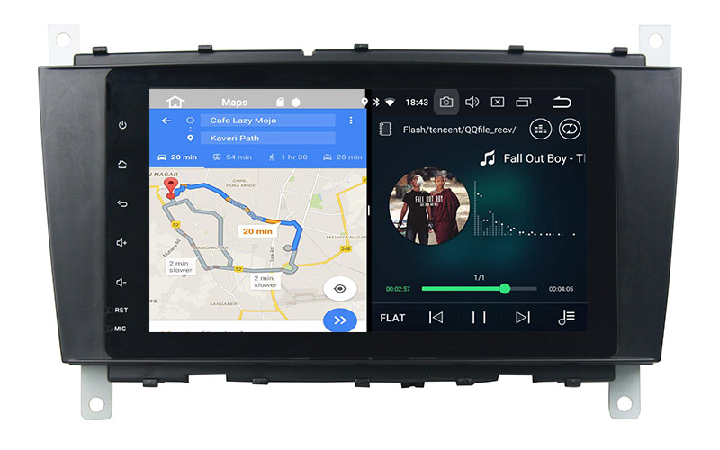 slpit screen on android mercedes w203