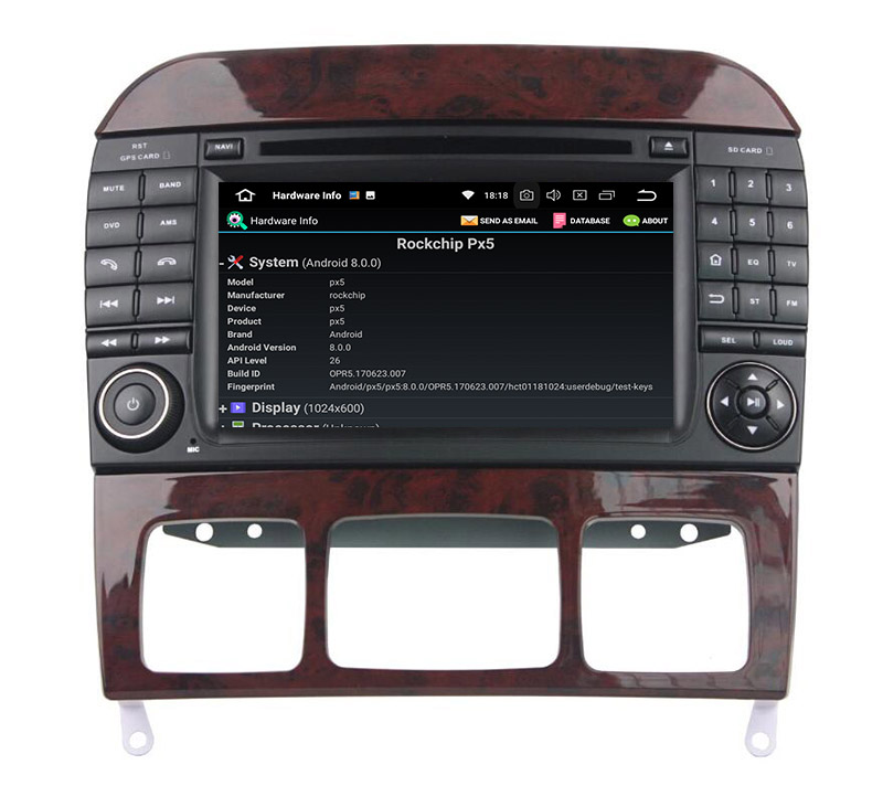 Mercedes-Benz S-Class android radio