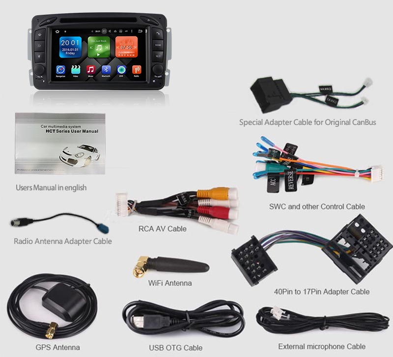 w203 android head unit