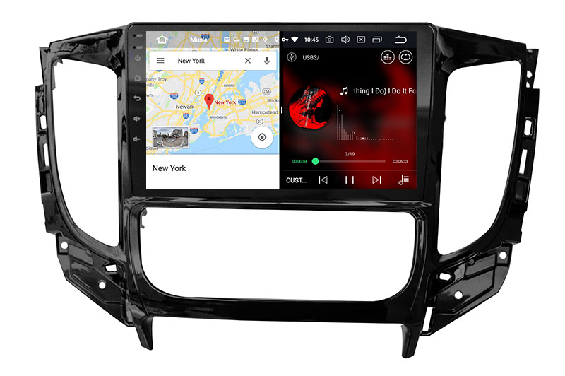 slpit screen on android Mitsubishi Pajero Sport / L200 2015-2020