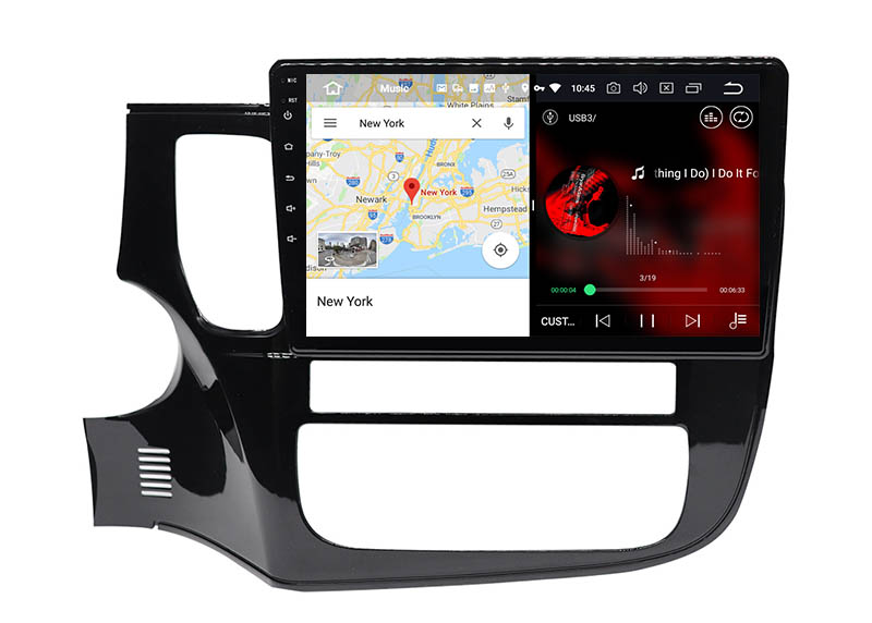 slpit screen on android Mitsubishi Outlander 2012-2019