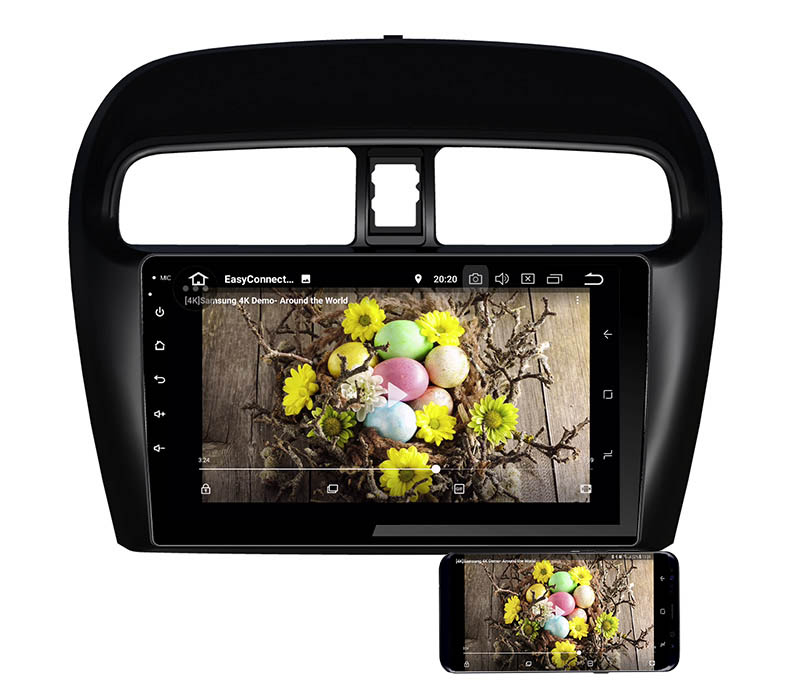 Mitsubishi Attrage Mirage 2012-2020 android mirror link
