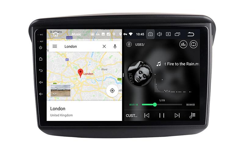 slpit screen on android Mitsubishi Pajero Sport 2 L200 Triton 2008-2016