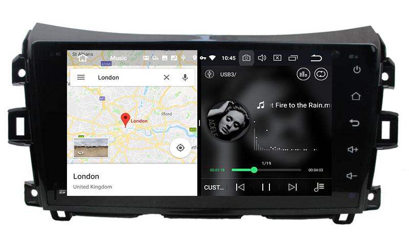 slpit screen on android nissan navara