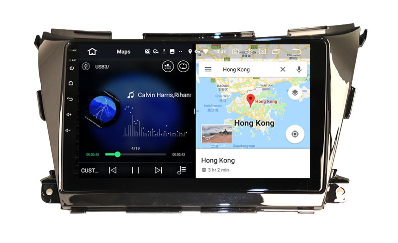 slpit screen on android Nissan Murano 3 Z52 2014-2020