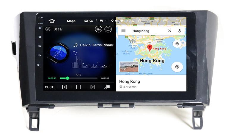 slpit screen on android Nissan Qashqai J11 X-Trail 3 T32 Dualis Rogue 2013-2017