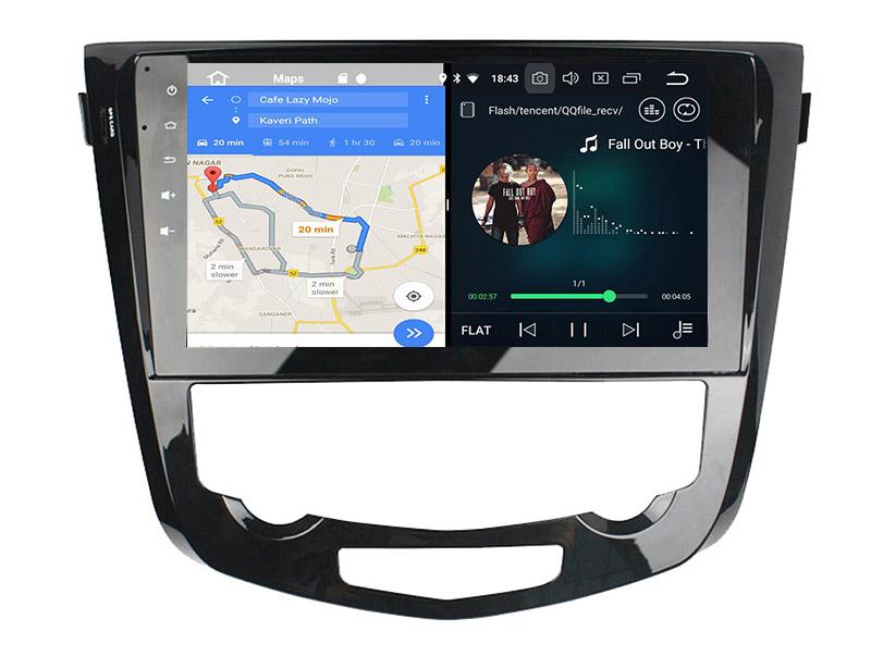slpit screen on android Nissan Qashqai