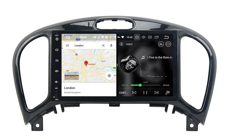 slpit screen on android Nissan Juke 2004-2018