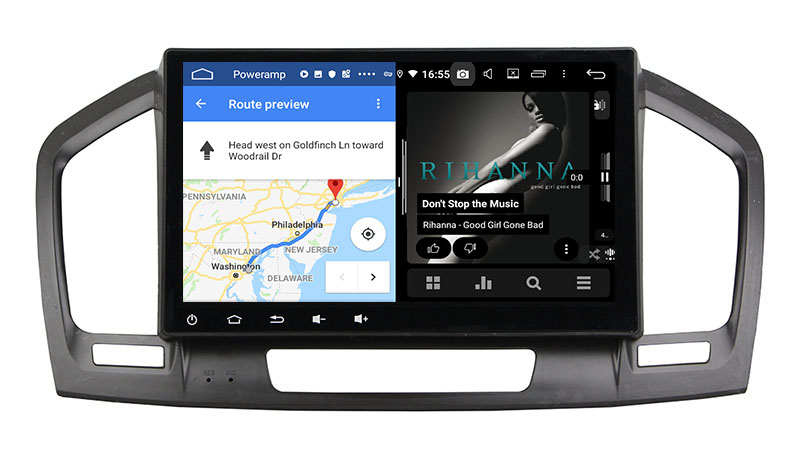 slpit screen on android Opel Vauxhall Insignia 2009 2010 2011 2012