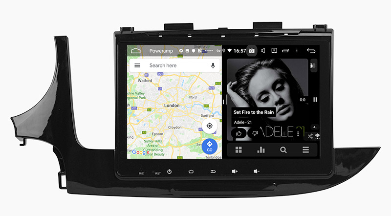 slpit screen on android2016 2017 2018 Opel Vauxhall Mokka X