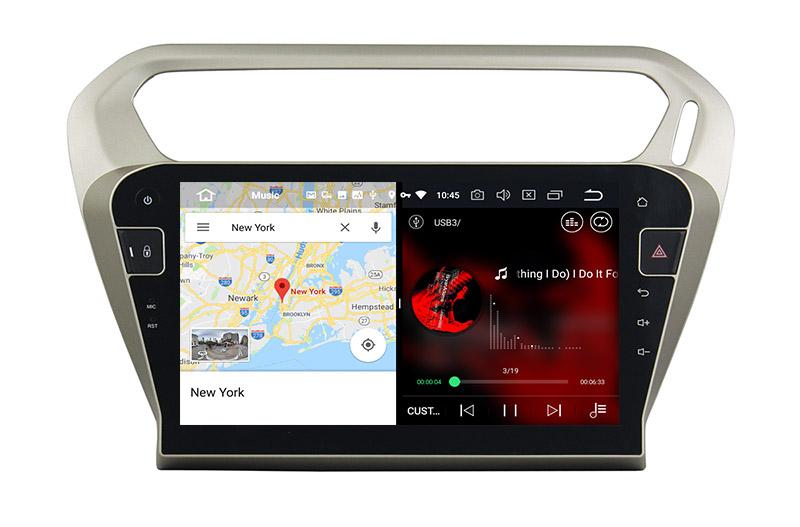 slpit screen on android 8.0 Peugeot 301 Citroen Elysee