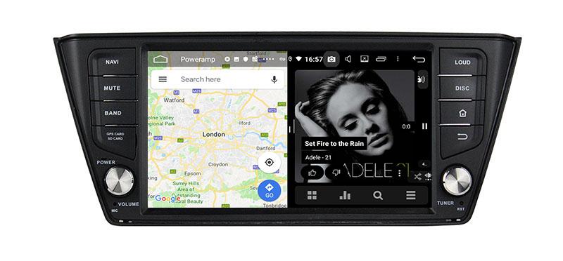 slpit screen on androidSkoda Fabia 2014 2015 2016 2017 2018 2019