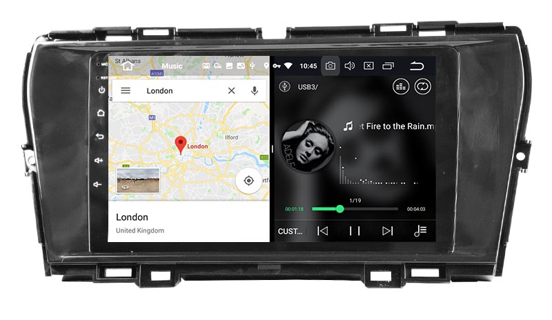 slpit screen on android SsangYong Korando 2019-2020