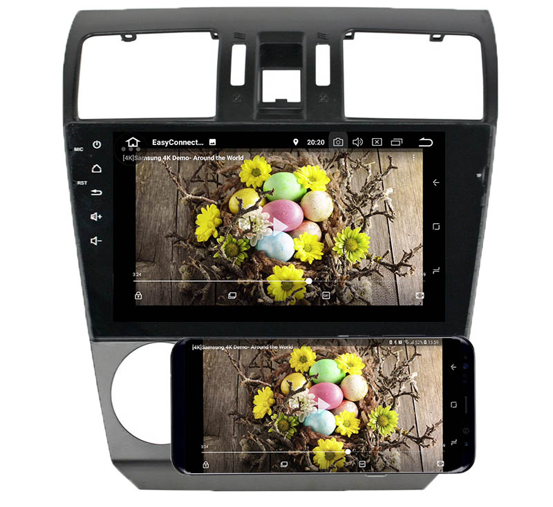 Subaru Forester XV 2013 2014android mirror link
