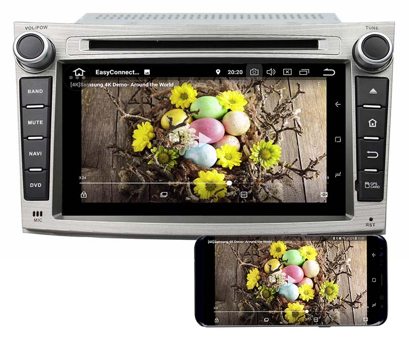 Subaru Legacy Outback 2009-2014 android mirror link
