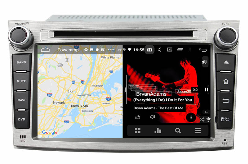 slpit screen on android  Subaru Legacy Outback 2009-2014