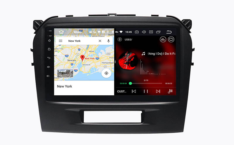slpit screen on android Suzuki Vitara 2015-2021