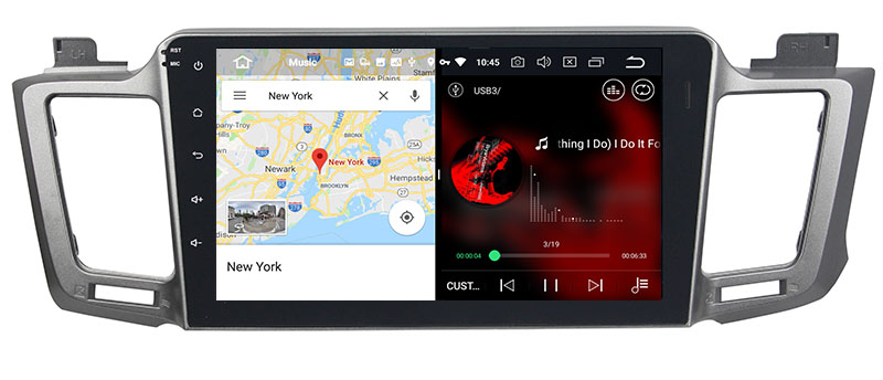 IYING 10.1 Inch Android 9.0 Car Stereo for Toyota RAV4 2013-2018 Support CarPlay 4G RAM 64G ROM 1280x720 IPS Screen AM//FM Radio GPS Navigation Built-in DSP WiFi Bluetooth Car Multimedia Headunit