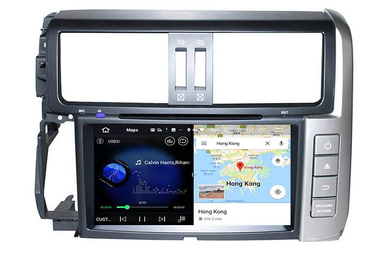 slpit screen on android Toyota Land Cruiser Prado J150 2009-2013