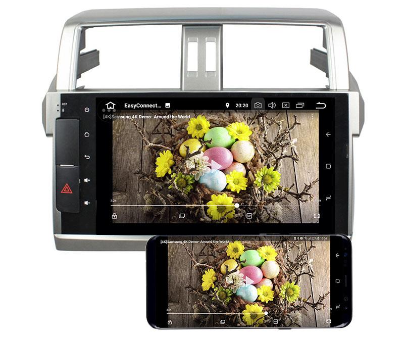 Toyota Land Cruiser Prado 150 2013-2017 android mirror link
