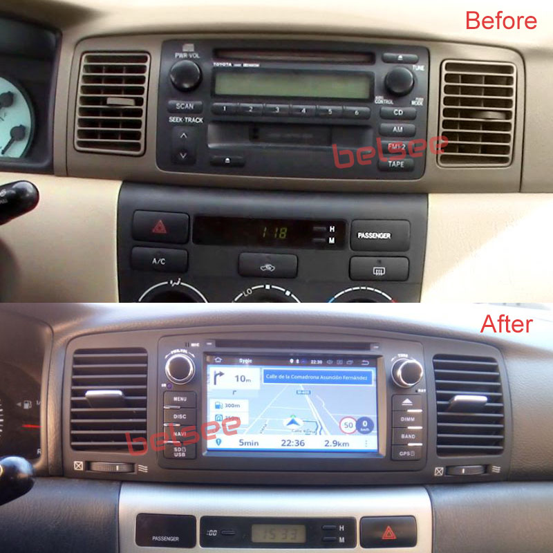 Belsee Aftermarket Car Stereo Upgrade For Toyota Corolla