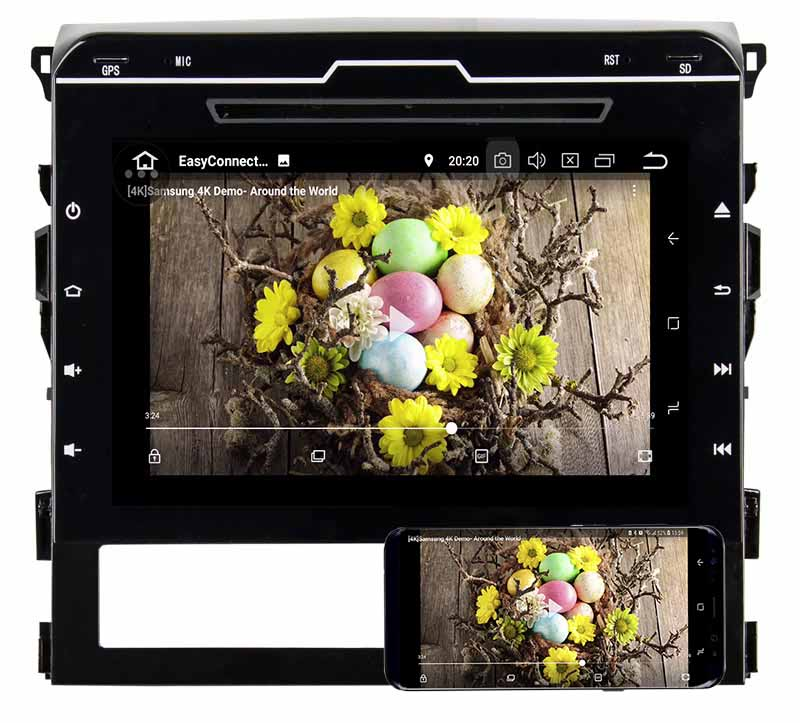2015 2016 Toyota Land Cruiser LC200dvd player android mirror link