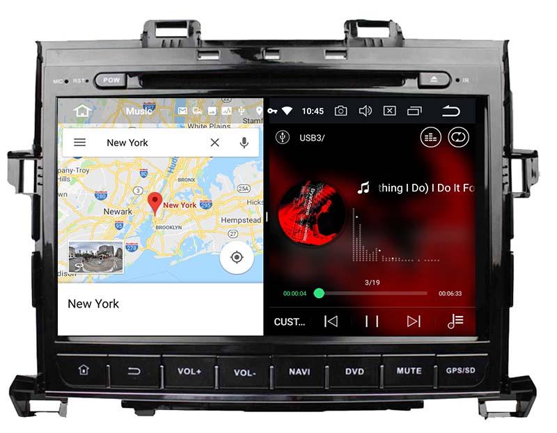 slpit screen on android Toyota Alphard 2007-2013 autoradio