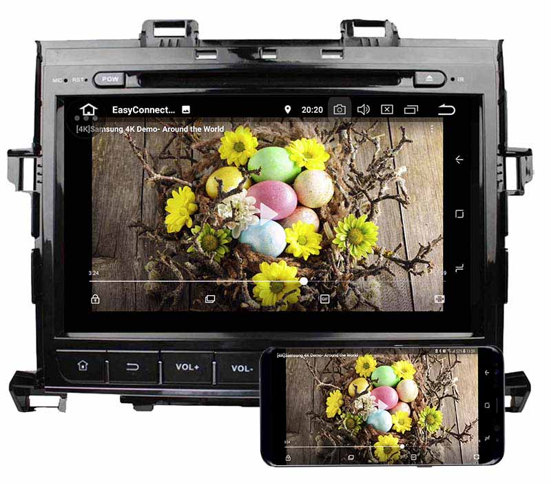 Toyota Alphard 2007-2013 dvd player android mirror link