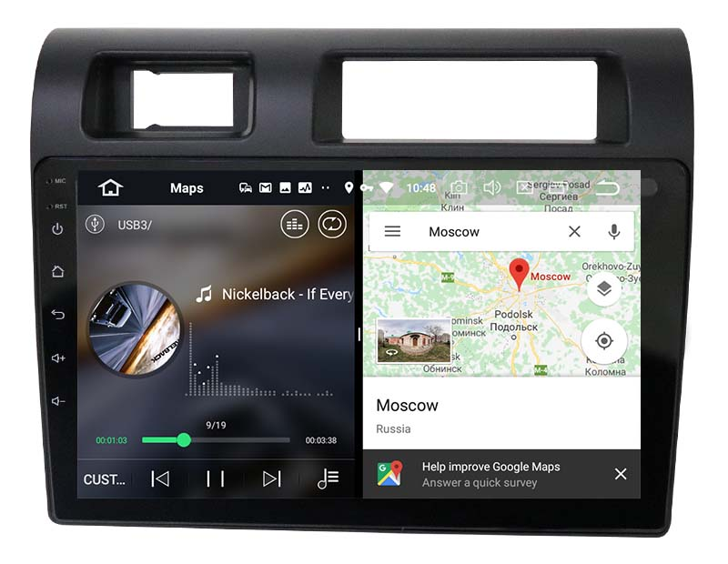 slpit screen on android Toyota Land Cruiser Pickup 2019 2020 2021