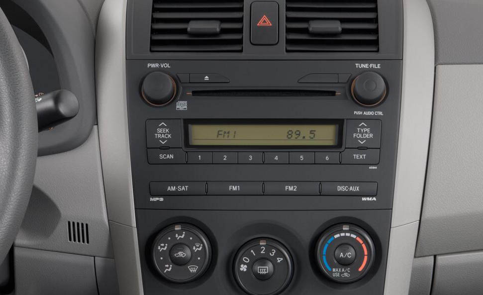 Toyota Corolla 2006-2011 factory radio