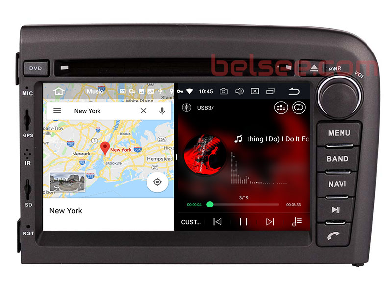 slpit screen on android 8.0 Volvo S80 1998-2006