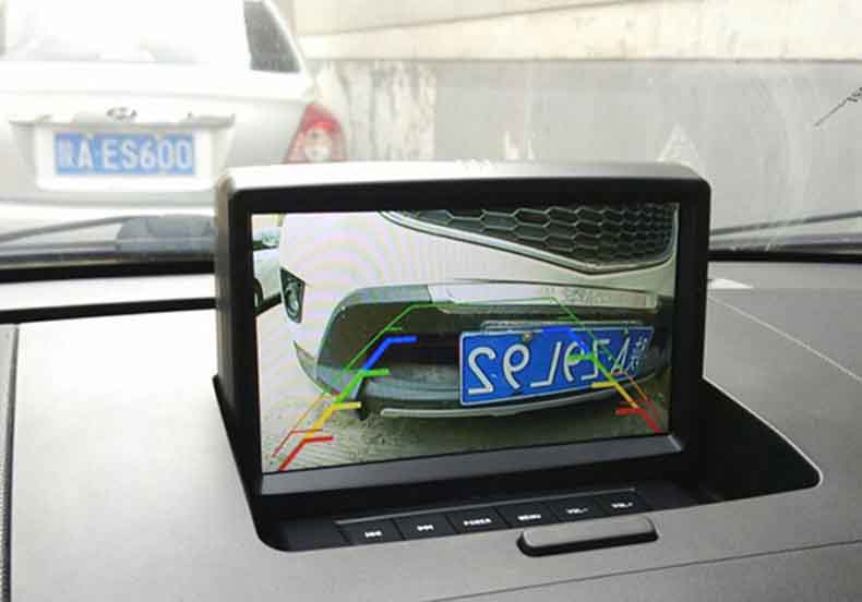 reverse camera display on radio screen