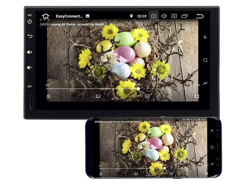 double din android mirror link