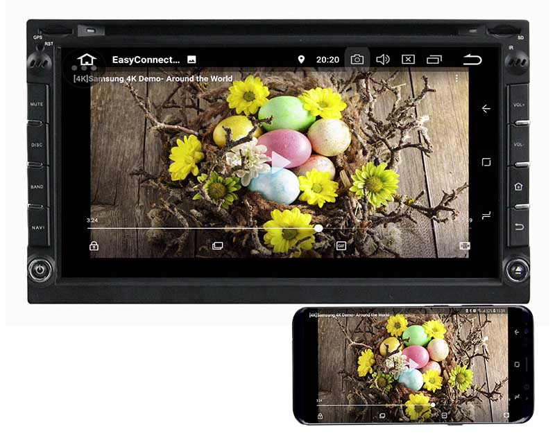 double din android 8.0 mirror link