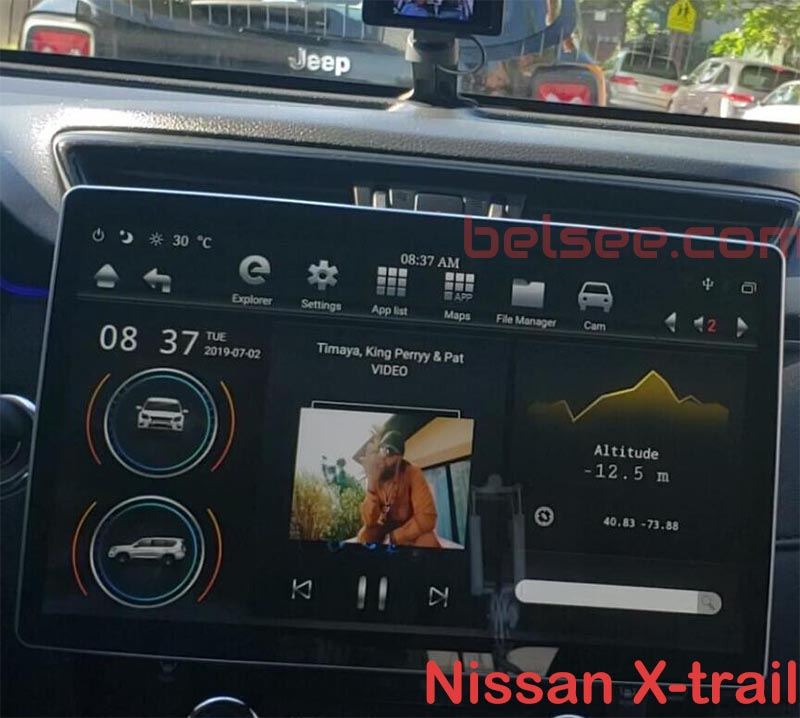 12.8 tesla screen android in Nissan X-trail