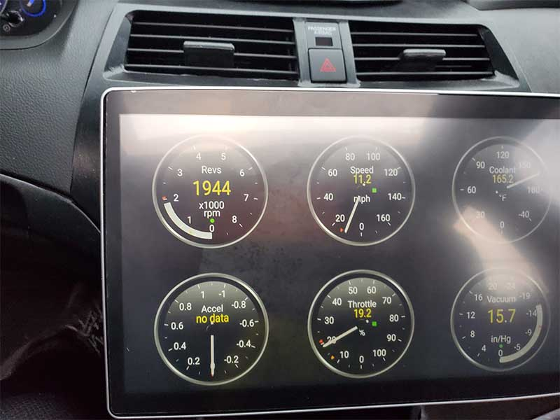 12.8 tesla screen android in 2010 Honda Accord Crosstour