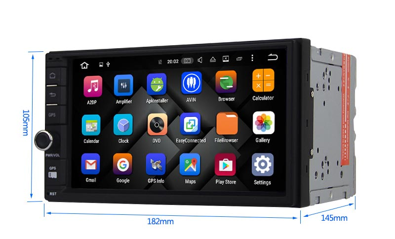 double din android 8.0 head unit