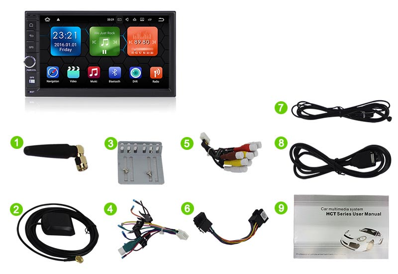 2 din android 8.0 car stereo