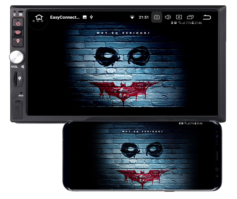 2 din android mirror link